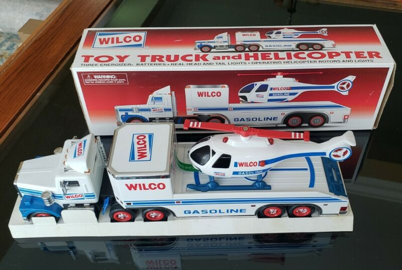 1996 Wilco Gasoline Toy Truck And Helicopter Collectible Set - NIB