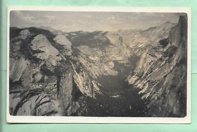RPPC. VIEW FROM GLACIER POINT, TENAYA CANYON. YOSEMITE NATIONAL PARK, CALIFORNIA