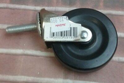 Shepherd 9195 3 Stem Caster Soft Rubber Wheel 38 Stem 90lb