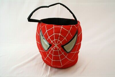 Kids Spiderman Mask Head Halloween Candy Bucket