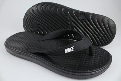 NIKE SOLAY THONG BLACK/WHITE FLIP FLOPS BEACH SANDALS WATER CELSO US WOMEN SIZES