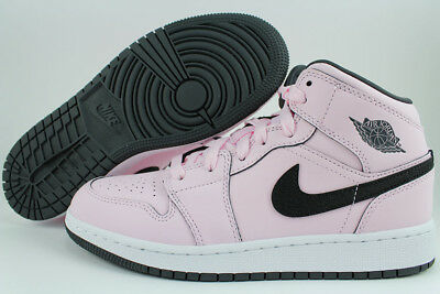 Retro Girls (NIKE AIR JORDAN 1 MID PINK FOAM/BLACK/WHITE RETRO HIGH HI WOMEN GIRLS YOUTH)