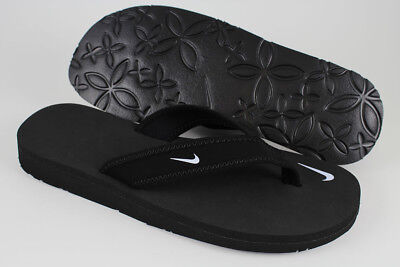NIKE CELSO GIRL THONG BLACK/WHITE FLIP FLOPS BEACH SANDALS WATER US WOMENS SIZES