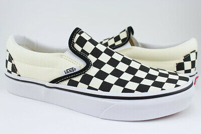 Black Classic Slip On - Vans Classic Slip-On - Black/White Checkerboard Checker Check -Canvas -Men/Women