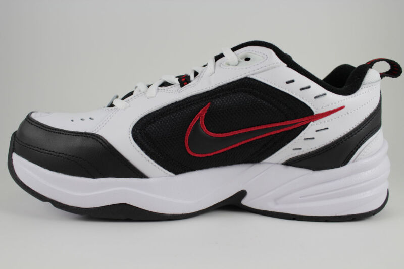 f8c2806c9ba8 ... NIKE AIR MONARCH IV 4 EXTRA WIDE 4E EEEE WHITE BLACK RED CROSS TRAINER  ...
