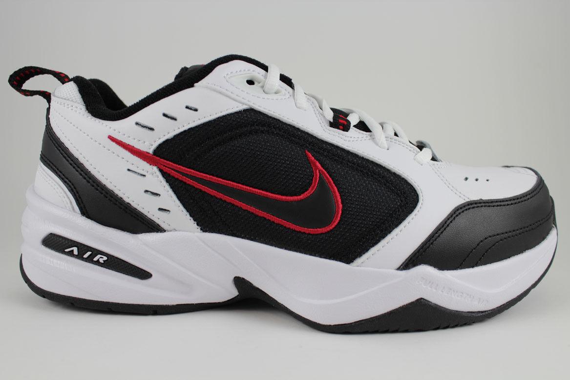 554f1ab00c2b Мужская спортивная обувь NIKE AIR MONARCH IV 4 EXTRA WIDE 4E EEEE  WHITE BLACK RED CROSS TRAINER MEN SIZES