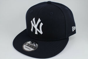 9dfa1fa568859c NEW ERA 9FIFTY BASIC SNAPBACK HAT CAP MLB NEW YORK NY YANKEES NAVY BLUE  ADULT