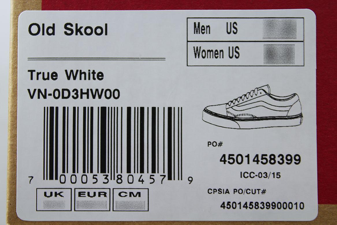 502eaf441e2 VANS OLD SKOOL TRIPLE TRUE WHITE MONO LOW CANVAS CLASSIC SKATE SK8 US MEN  SIZES