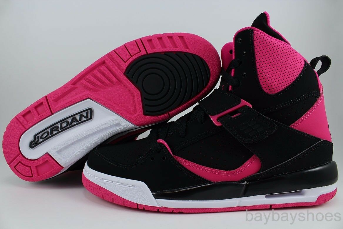 e8400018769a NIKE AIR JORDAN FLIGHT 45 HIGH HI BLACK VIVID PINK ORIGIN WOMEN GIRLS YOUTH  SZ