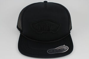 VANS CLASSIC PATCH TRUCKER HAT ADJUSTABLE CAP BLACK SNAPBACK ADULT MEN WOMEN NEW