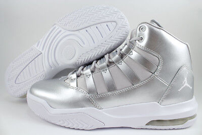 Nike Jordan Girl - NIKE AIR JORDAN MAX AURA METALLIC SILVER/GRAY/WHITE RETRO 10 11 WOMEN GIRL YOUTH