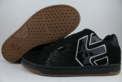 ETNIES METAL MULISHA FADER 2 BLACK/GRAY/WHITE/GUM SKULLS SKATE US MENS SIZES