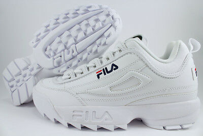 FILA DISRUPTOR II 2 WHITE/PEACOAT BLUE/RED CROSS-TRAINER AUTHENTIC MEN WOMEN SZ