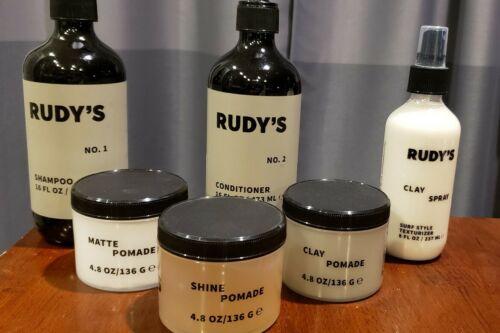 rudy s shampoo conditioner clay pomade shine