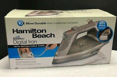 Hamilton Beach Durathon Digital Iron with Retractable Cord | Model # 19901 (Hamilton Beach Durathon Digital Iron With Retractable Cord)