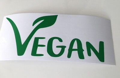 Vegan ,car decal/ sticker for windows, bumpers , panels  or Laptops