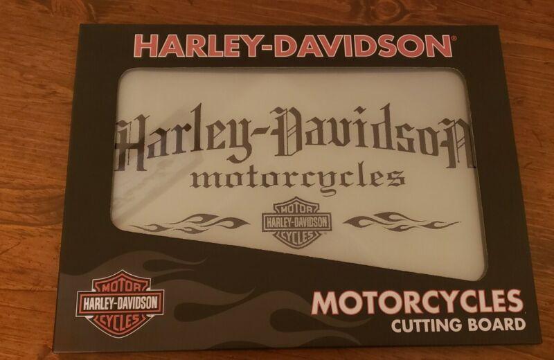 Harley Davidson Glass Cutting Board NIB