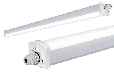 36W LED Batten Light 4ft Frosted Cover Triproof Fitting IP66 Replacement for T8