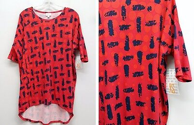 LULAROE Size XS Red Polka Dot Cork Asian IRMA Top NEW Cork Top