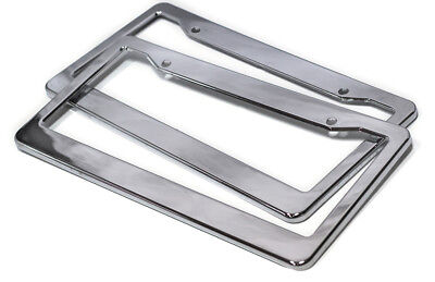 2pc OxGord Chrome HD Plastic License Plate Frame Tag Cover Car SUV Van Truck -A