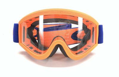 Oakley L-Frame MX Goggles Flo Orange/Blue w/ Clear (Blue Oakley Goggles)