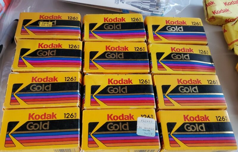 Vintage 1995 Kodak 126 Film 24 exposures Unopened New Old Stock (10 available)