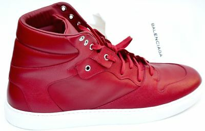 BALENCIAGA New sz 41 8 635 Authentic Designer Mens High Top Sneakers Shoes red