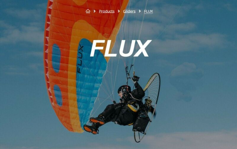 Powered Paraglider Wing New Sky Flux Medium Ruby