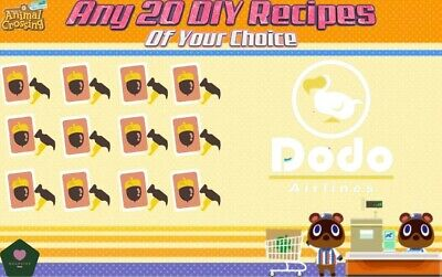Animal Crossing New Horizons Choose Any 20 DIY Recipes Of Your Choice