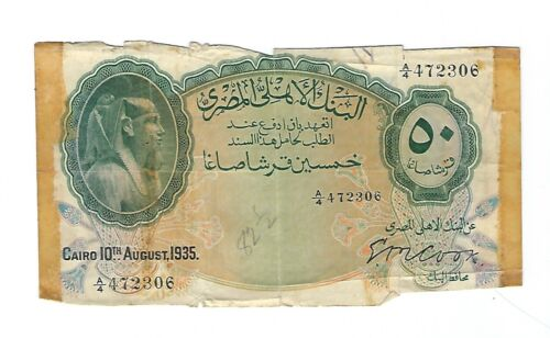 Egypt - 1935, 50 Piastres !!Cook Sign!!