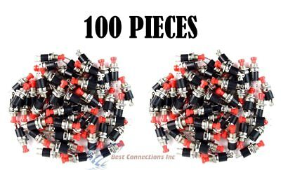100 Pcs Mini Push Button Spst Momentary No Switch Red 2 Pins 100 Pack Nb-602