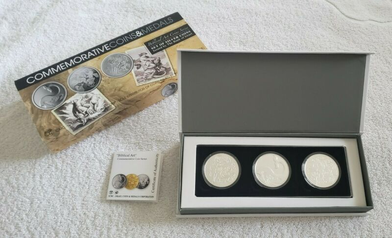 ICMC Biblical Art Coin Series Set of Silver Coins w/Box/COA by Bank of Israel