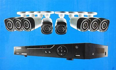 Lorex LHD818 8-Ch Security System 720p HD 1TB Remote View Night Vision LOCKED