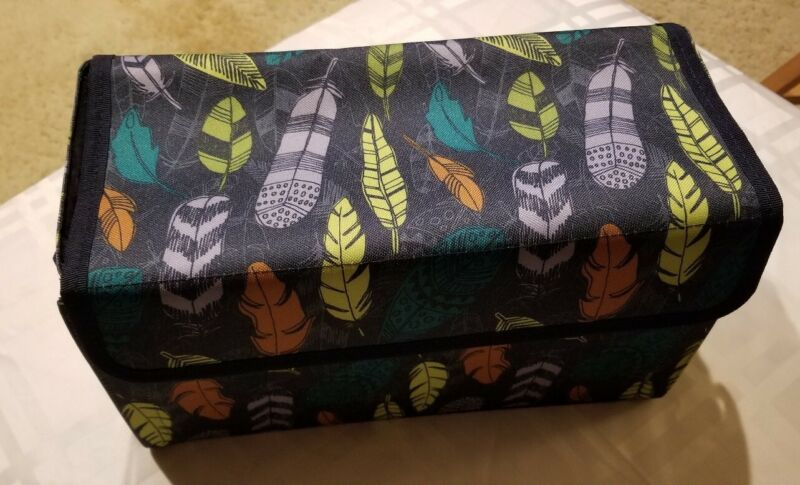 Thirty One 31 Get Creative Case Falling Feathers Print NIP