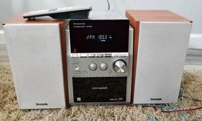 Panasonic SA PM53 Compact Bookshelf Stereo System AM FM CD Cassette NICE