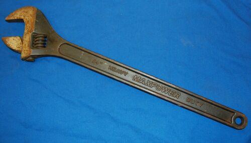 "24 Inch MaxPower Adjustable Wrench 24"" 600mm Heavy Duty Chrome Vanadium"