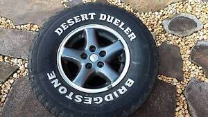 4 x jeep cherokee xj mag wheels rims 2 tyres 5 stud 4x4 Bella Vista The Hills District Preview