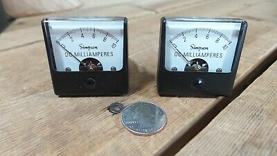 Lot Of 2  Nos Out Of Box Simpson Panel Meter Model 1212 06165