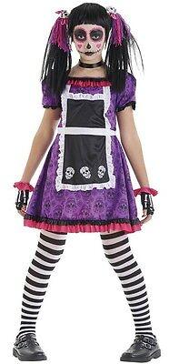 en Puppe Mexikanisch Halloween Kostüm Kleid Outfit 4-12 Jahre (Tag Der Toten Mädchen Outfits)