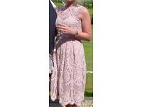 Dusky Pink Lipsy Dress Size 10