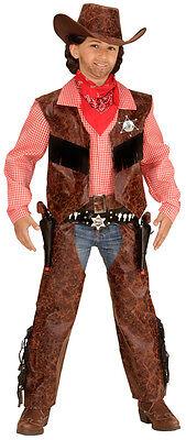 Kinder Western Kostüm (Buffalo Kid Western Cowboy Kinderkostüm NEU - Jungen Karneval Fasching Verkleidu)