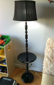 Beautiful Black Vintage Tall Lamp Stand
