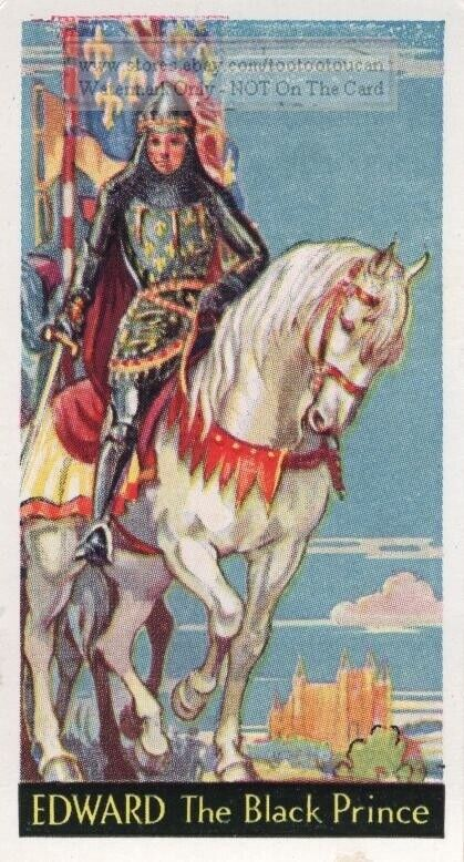 Black Prince Edward Prince Of Wales Woodstock 1930s Ad Trade Card