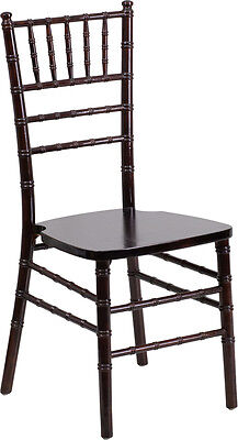Walnut Wood Chiavari Chair - Commercial Quality Stackable Wood Chiavari Chair