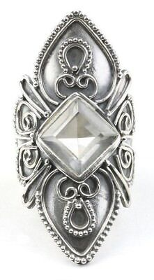 Ice Warrior Ring, LARGE Sterling Silver Quartz Crystal Ring, Statement Piece