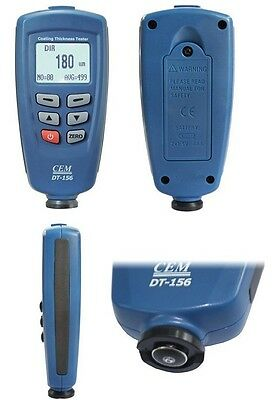 DT156  1250um CEM Paint Coating Thickness Meter Gauge Tester Auto F/NF Probes  for sale  Shipping to Canada