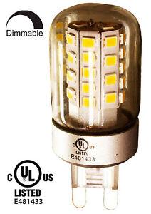 YUURTA LED G9 5W Dimmable Light Bulb for Lamp Chandelier cUL