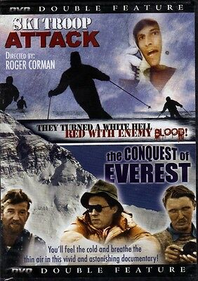 Ski Troop Attack+The Conquest of Everest( Double Feature) DVD*SLIM CASE*