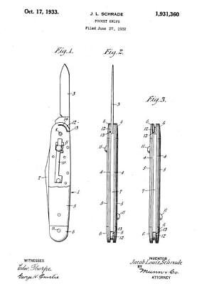 1257+ POCKET KNIFE PATENTS ON CD-ROM!!