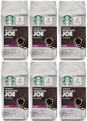 6 PACK Starbucks Coffee Morning Joe Ground Coffee 12oz EA Best Before April 2020